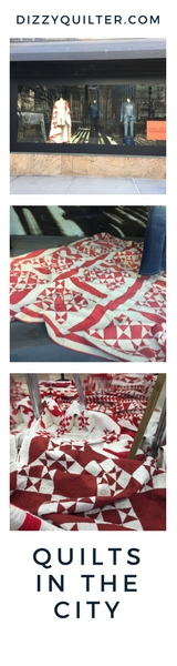 Calvin Klein's Vintage Red and White Quilts in NYC